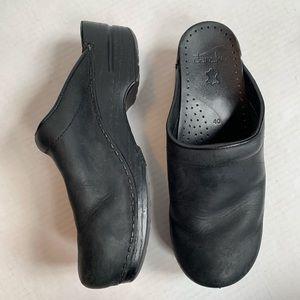 Dansko Black Clogs Mules